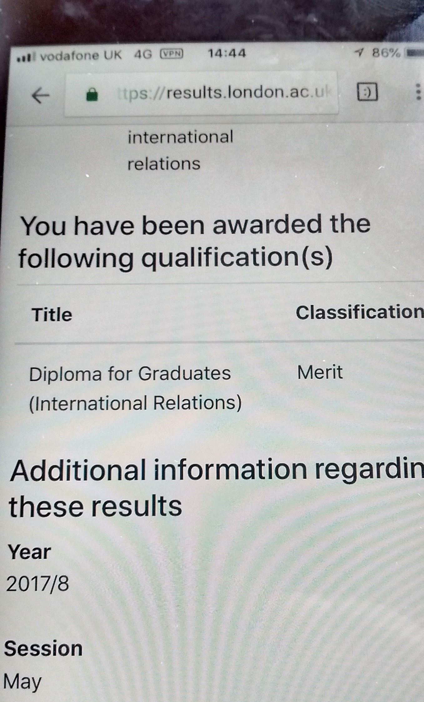 I have graduated with a merit from the LSE and it's thanks to my
